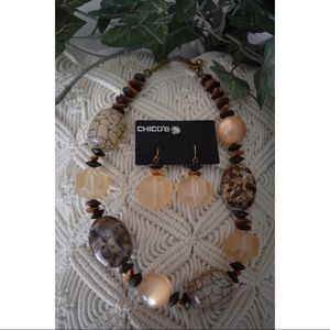 Chico's Necklace & Earrings Set